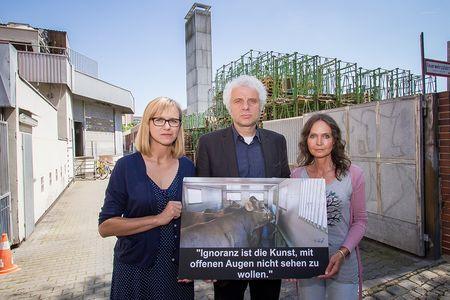 Schlachthof Petition München Christine Schorling, Udo Wachtveitl, Daniela Böhm